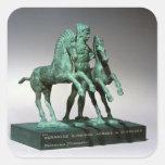 Hércules que somete los caballos de Diomedes, Pegatina Cuadrada
