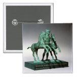 Hércules que somete los caballos de Diomedes, Pin Cuadrada 5 Cm