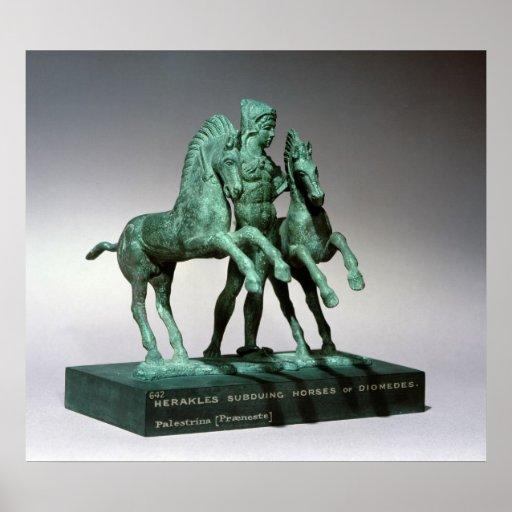 Hércules que somete los caballos de Diomedes, Póster