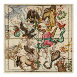 Hércules, sagitario, Delphinus y Scorpius Impresiones