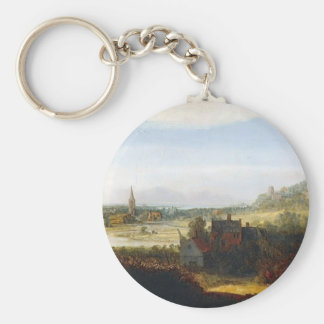 Hercules Seghers- Landscape with Armed Men Key Chains