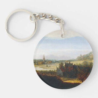 Hercules Seghers- Landscape with Armed Men Acrylic Key Chains