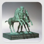 Hercules subduing the horses of Diomedes, Square Sticker