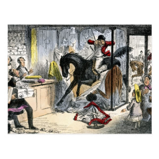 Hercules takes a Drapers Shop Postcard