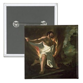 Hercules Tearing the Burning Robe, c.1634 2 Inch Square Button