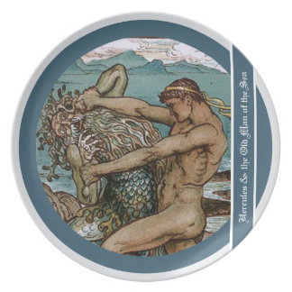 Hercules & the Old Man of the Sea Melamine Plate