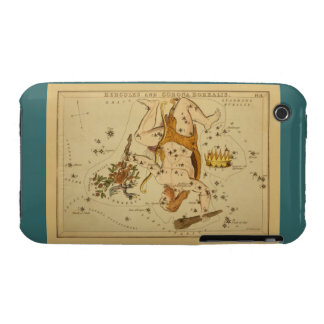 Hercules - Vintage Astronomical Star Chart Image iPhone 3 Covers