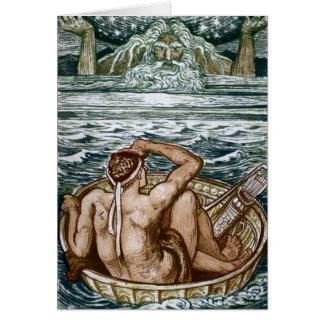 Hércules y atlas tarjeta de felicitación