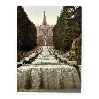 Hércules y cascadas, Wilhelmshohe, Cassel (es deci Tarjetas Postales
