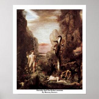 Hércules y el Hydra Lernaean de Moreau, Gustavo Impresiones