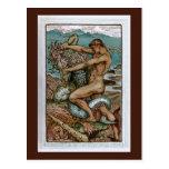 Hércules y el viejo hombre del mar postal