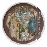 Hércules y las ninfas plato de cena