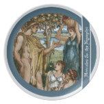 Hércules y las ninfas plato para fiesta