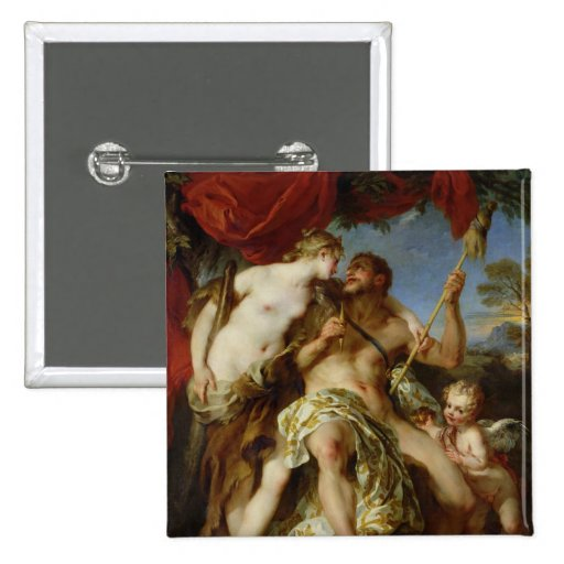 Hércules y Omphale, 1724 Pin Cuadrado