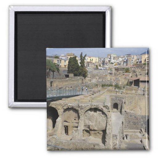 Herculium, Ercolano, Campania, Italy 2 Inch Square Magnet