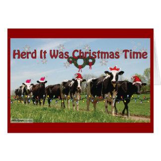 Herd it Was Christmas2 Edit Card