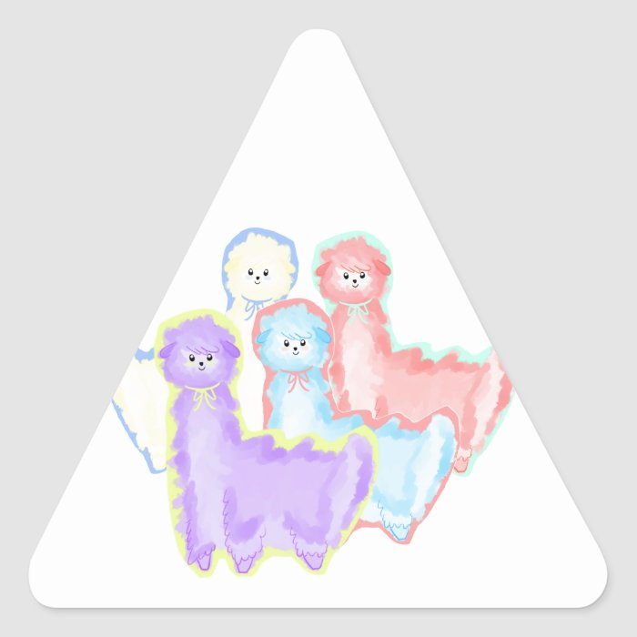 Herd of Alpacas Triangle Sticker