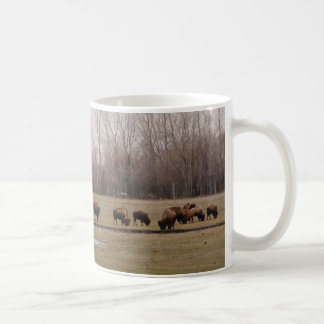 Herd of Bison on a Mug