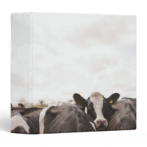 Herd of cattle and overcast sky 2 3 ring binder