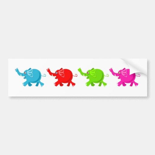 Herd of Elephants Bumper Sticker