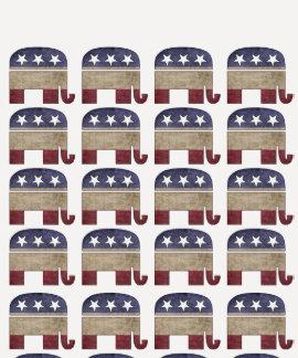 Herd of Elephants Funny GOP Republican T-Shirt