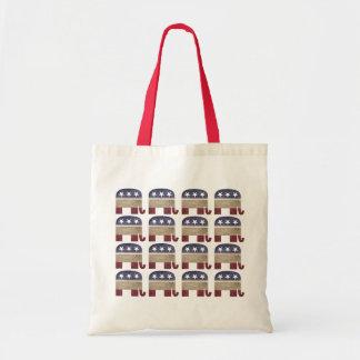 Herd of Elephants Funny Republican Tote Bag