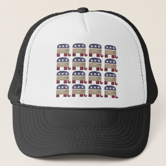 Herd of Elephants Funny Republican Trucker Hat