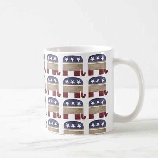 Herd of Elephants GOP Republican Classic White Coffee Mug