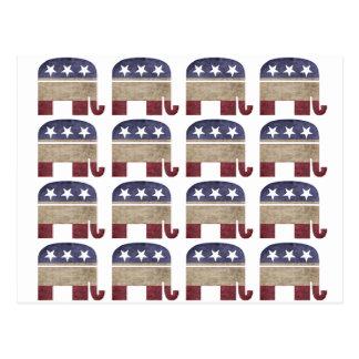 Herd of Elephants GOP Republican Political Postcard