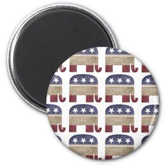 Herd of Elephants Republican GOP 2 Inch Round Magnet