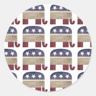 Herd of Elephants Republican GOP Classic Round Sticker