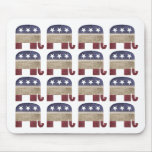 Herd of Elephants, Republican Mouse Pad