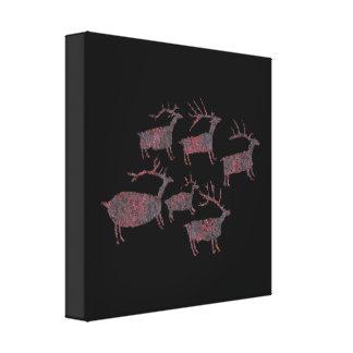 Herd of Elk Petroglyph Canvas Print