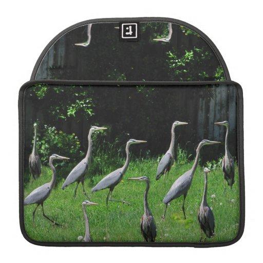 Herd of Heron ~ MacBook Flap Sleeve Sleeve For MacBooks