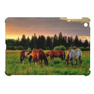 Herd of horses iPad mini case