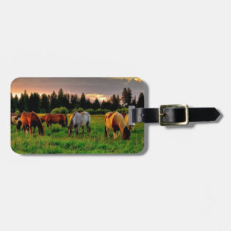 Herd of horses luggage tag