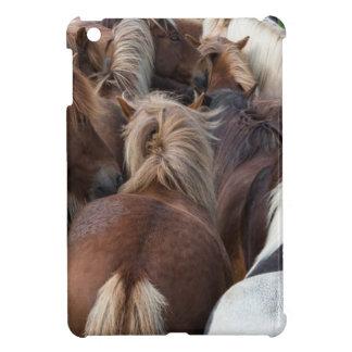 Herd of Icelandic horse Cover For The iPad Mini