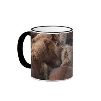 Herd of Icelandic horse Ringer Mug
