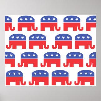 Herd of Republican Elephants Posters