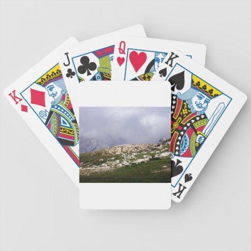 Herd of sheep at the Lake Garda Bicycle Poker Cards