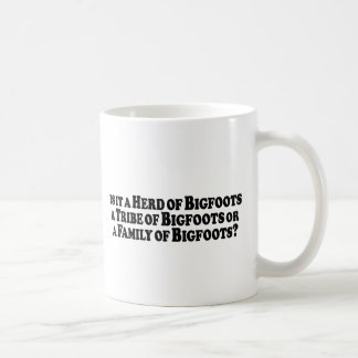 Herd Tribe or Family of Bigfoots - Basic Coffee Mug