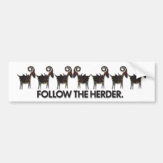 HERDER.bumper Bumper Sticker