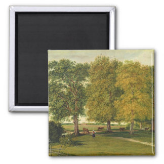 Herder with Cattle beneath Autumnal Trees Magnet