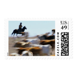 Herding Cattle Postage Stamp