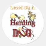 Herding Dog Owners Gifts Round Sticker