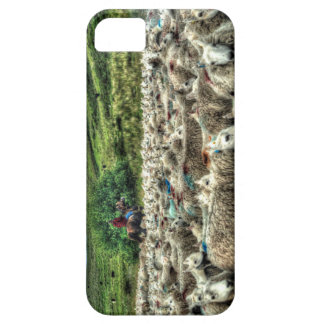 Herding sheep from horseback in Wales iPhone SE/5/5s Case