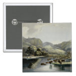 Herds of Bison and Elk on the Upper Missouri, plat 2 Inch Square Button