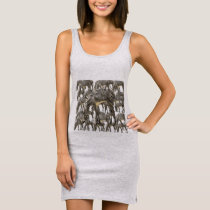 Herds of Zebras Sleeveless Dress