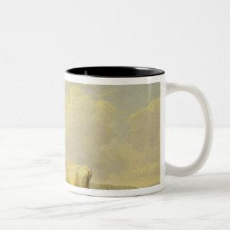 Herdsman and Herd, c.1880 Two-Tone Coffee Mug