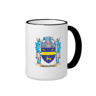 Herdsman Coat of Arms - Family Crest Ringer Coffee Mug